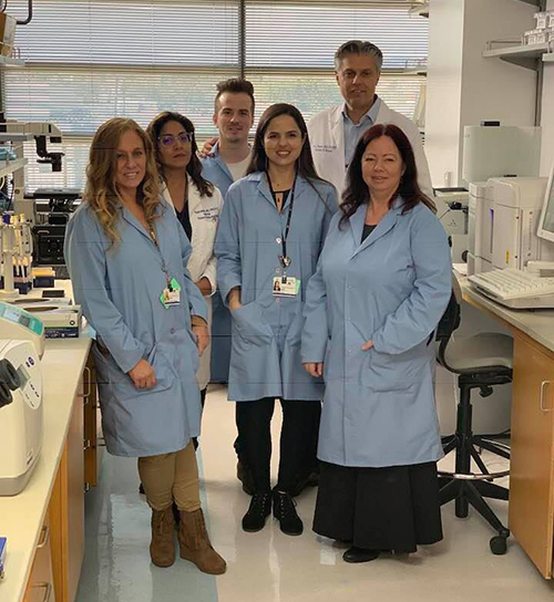 Stacy Robin with her Lab partners